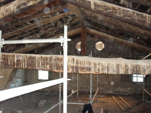 Interior de la cubierta del Palacio Episcopal