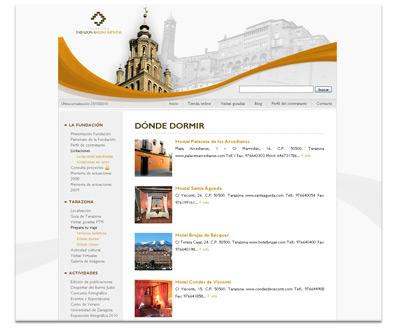 """Sección """"Prepara tu viaje"""" de la web de Fundación Tarazona Monumental"""