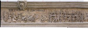 Friso del Ayuntamiento de Tarazona dedicado a Carlos V