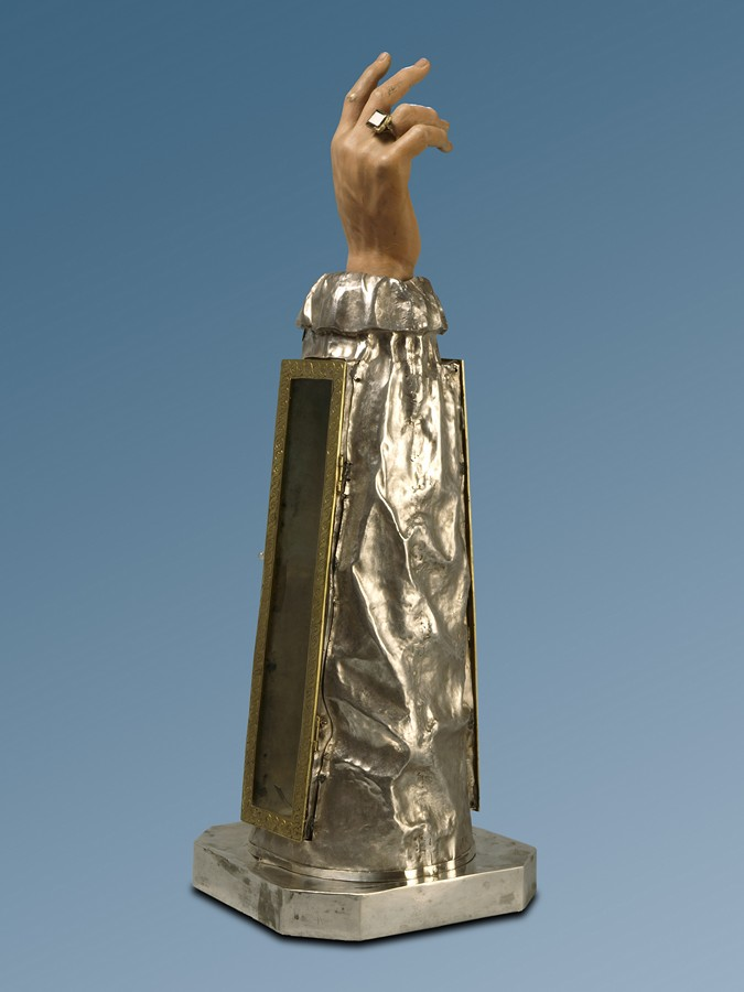 Escultura procesional del brazo de San Atilano. Fundación Tarazona Monumental.