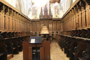 Interior del coro de la Catedral de Tarazona. Fundacion Tarazona Monumental