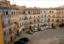 Plaza de Toros Vieja de Tarazona, antes de la restauración, en 1.998.