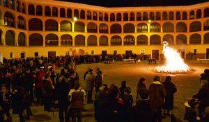 """Celebración de """"Las Hogueras de San Antón"""", en la Plaza de Toros Vieja."""
