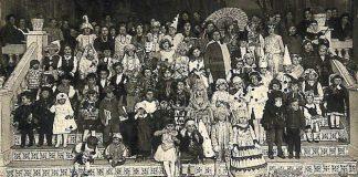 Celebración del Carnaval en Tarazona en los años 20 (foto:archivo de Javier Bona).