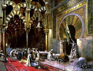 Oleo sobre lienzo de la Mezquita de Córdoba de Edwin Lord Weeks, 1880 (Walters Art Museum, USA).