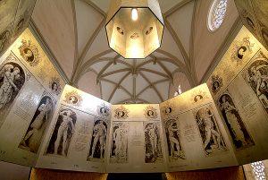 Representación de los personajes mitológicos del cimborrio de la Catedral de Tarazona.