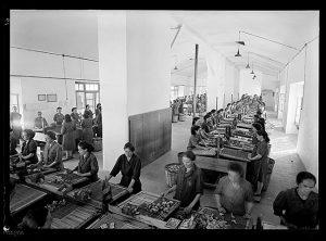 Interior de la fábrica Fosforera Española. Propiedad: AHP