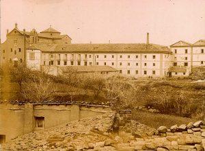 Vista fábrica fosforera Vista de la fábrica de fósforos ubicada en el Convento de Carmelitas. Propiedad: Luis Tarazona.