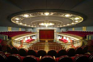 Patio de butacas en forma de herradura del Teatro de Bellas Artes.