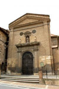 Puerta de entrada a la Iglesia del Ex-convento de San Joaquín (Calle San Antón).