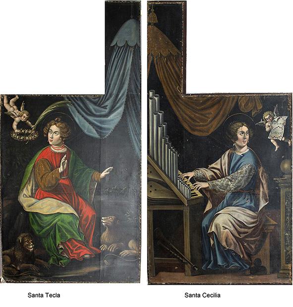 Alas interiores de las puertas del antiguo órgano de la Iglesia de San Francisco de Asís.