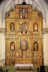 Retablo principal de la Iglesia de San Francisco de Asís.